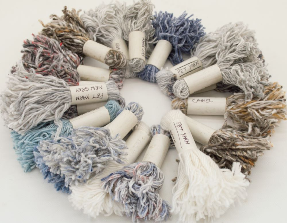 Manfred Barfuss: Hand-woven rugs made of recycled PET bottles