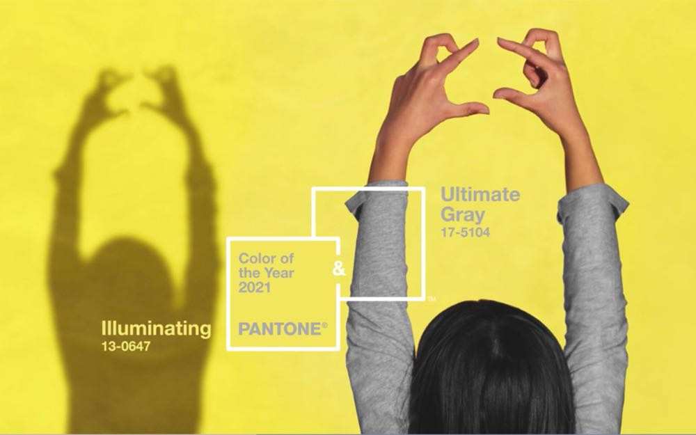 Pantone colours 2021: calm grey and cheerful yellow