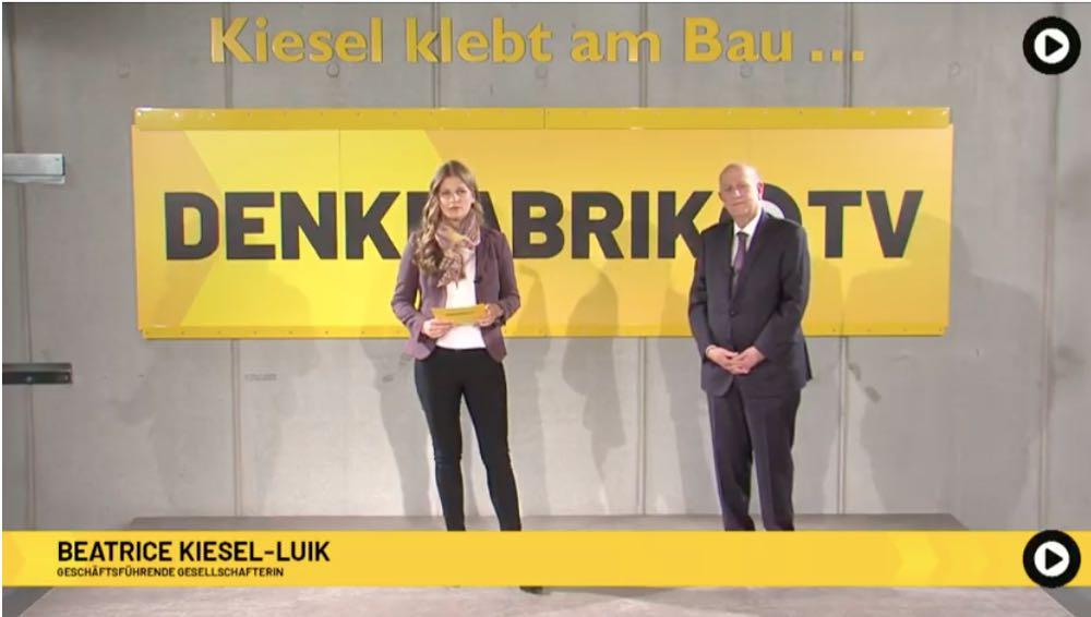 Kiesel feiert erfolgreiche digitale Premiere mit Denkfabrik.TV