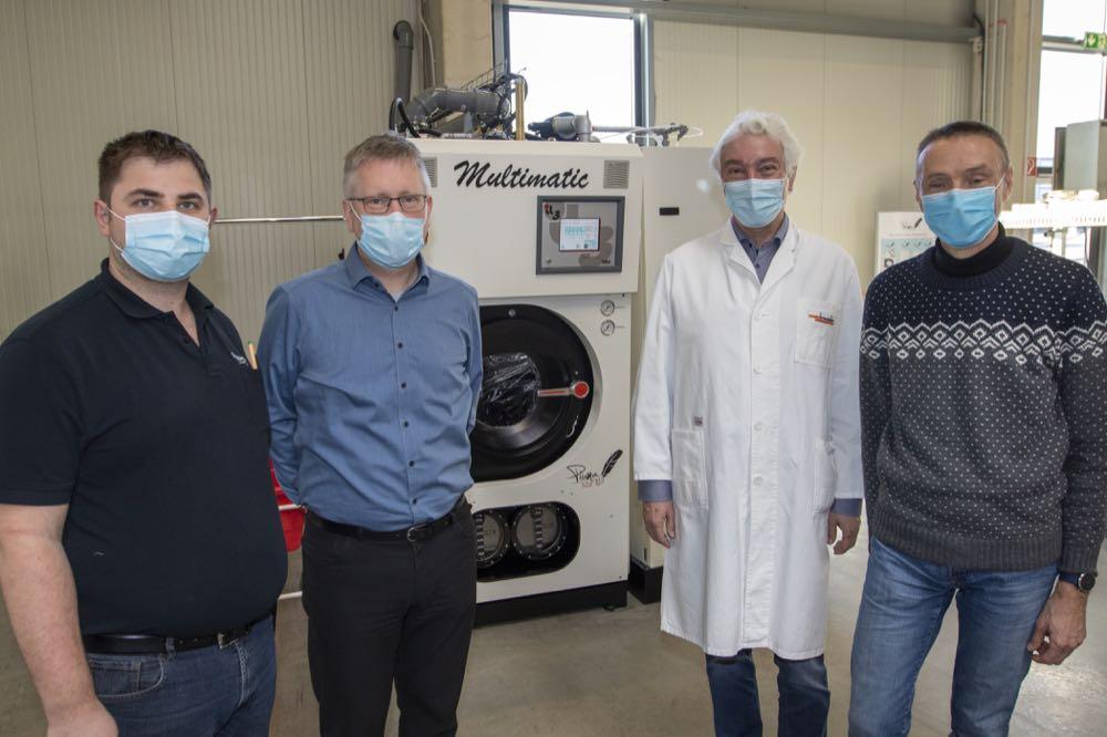 Weltneuheit: Desinfektionverfahren für Textilreinigungsmaschinen