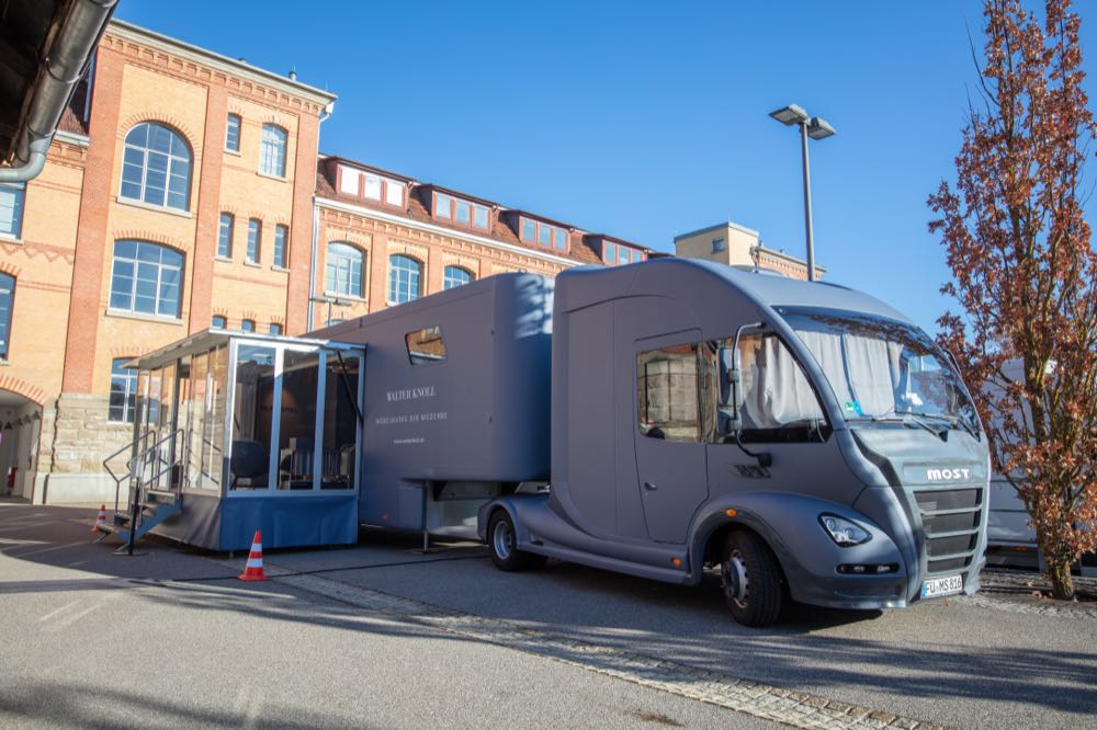 Walter Knoll tours Northern Europe with showroom truck