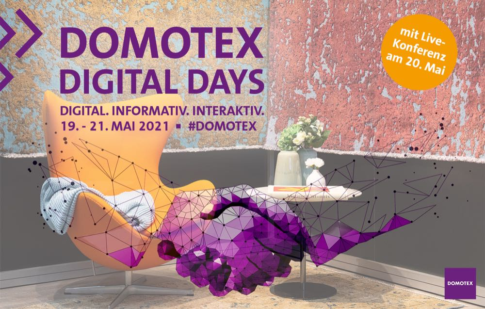 Domotex 2021 becomes a three-day digital event