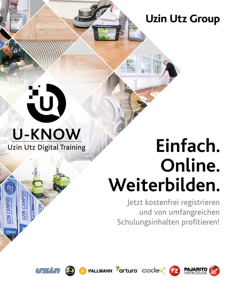 Uzin Utz launcht digitale Weiterbildungsplattform