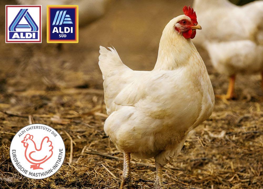 Aldi wirbt für Unterstützung der Europäischen Masthuhn-Initiative