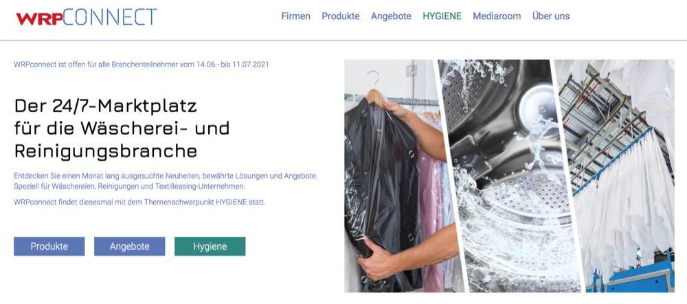 WRPconnect 2021: Online-Marktplatz für Wäschereien vor dem Start