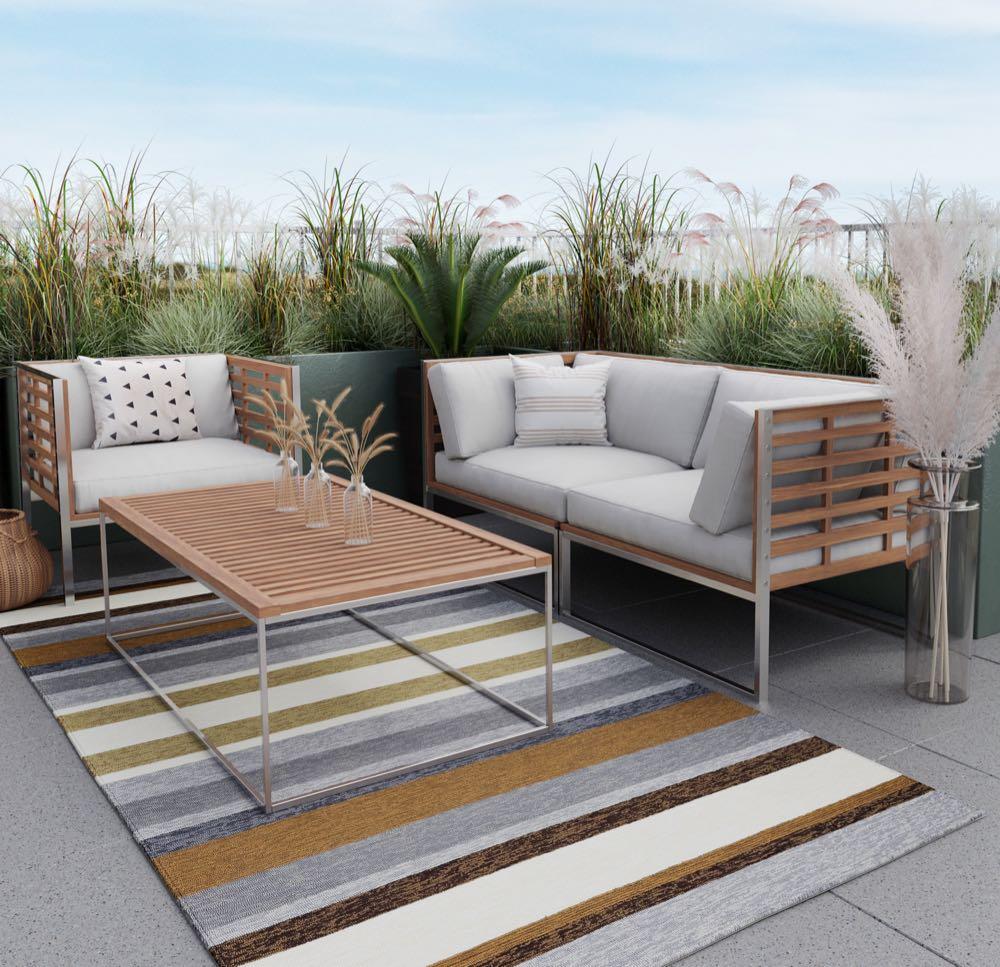Theo Keller: Outdoor-Teppiche, auch passend für Balkone