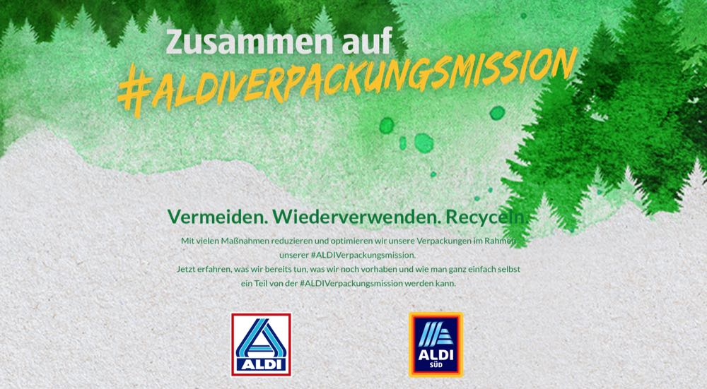 Aldi Süd setzt auf recycelten Kunststoff