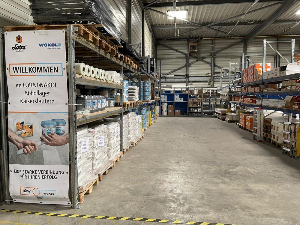 Loba und Wakol betreiben neues Abhollager in Kaiserslautern