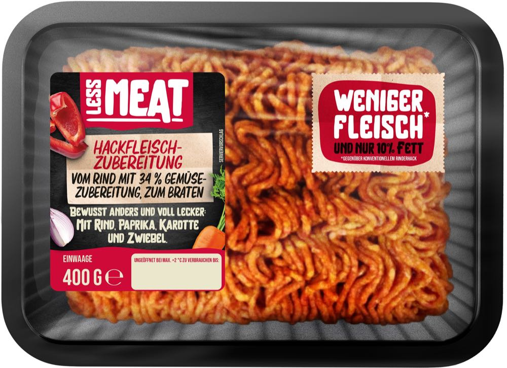 Netto nimmt Hackfleisch mit Gemüseanteil ins Sortiment