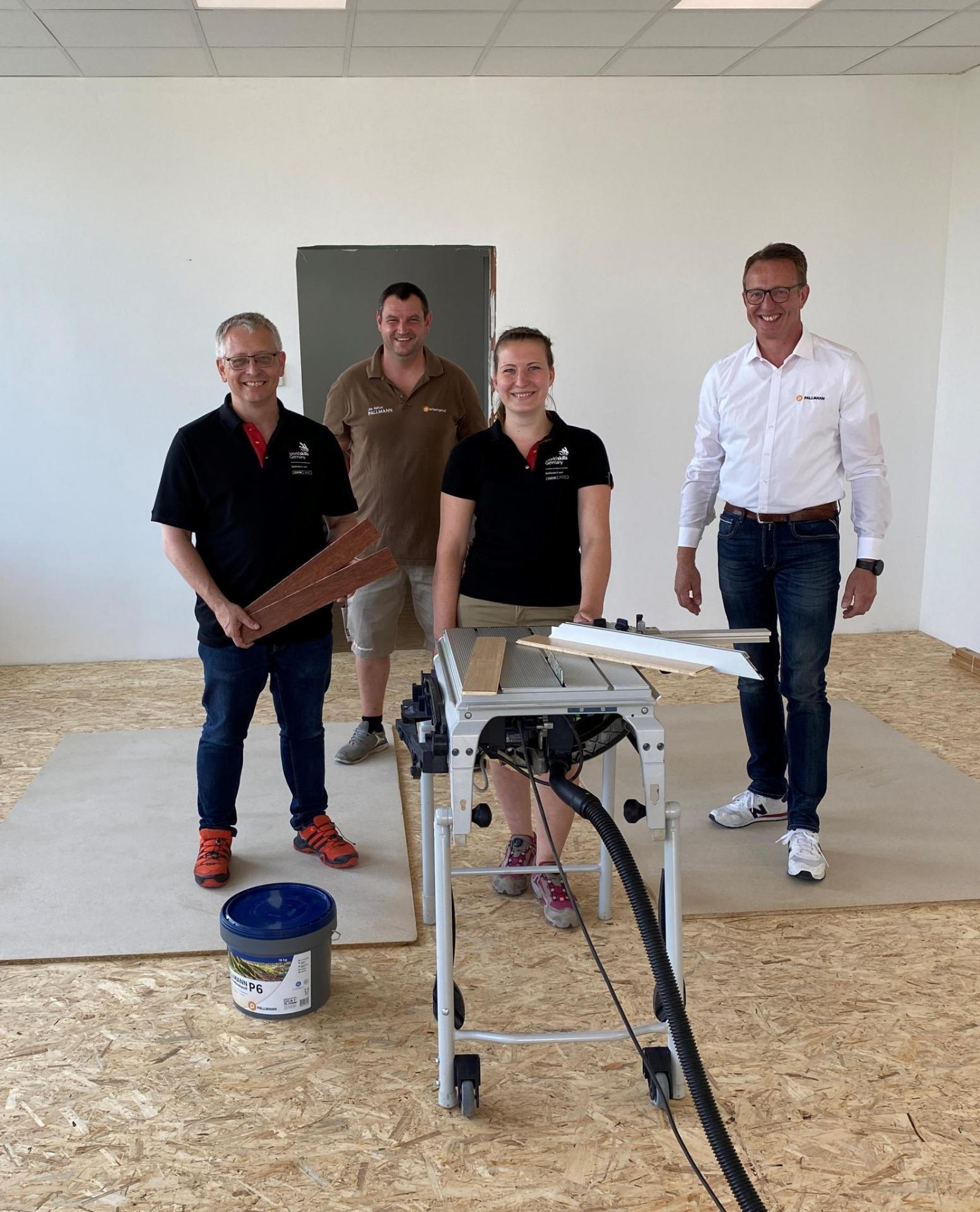 Euroskills 2021: Regina Fraunhofer im Trainigscamp bei Pallmann