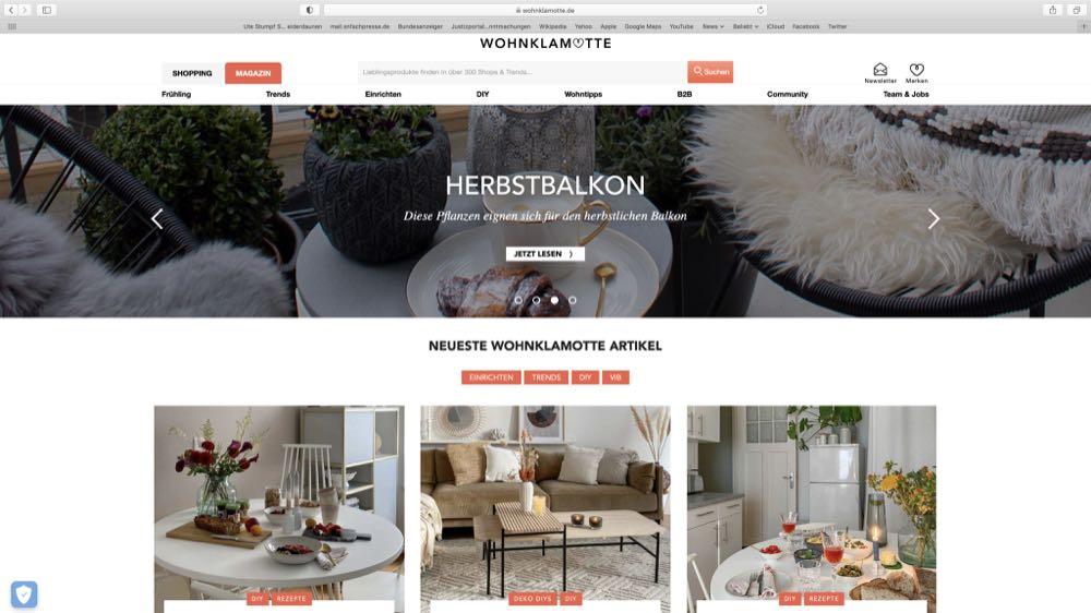 Gruner + Jahr übernimmt Einrichtungsplattform Wohnklamotte