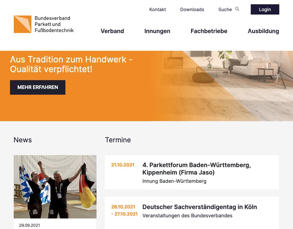 BVPF: Neue Website ist online