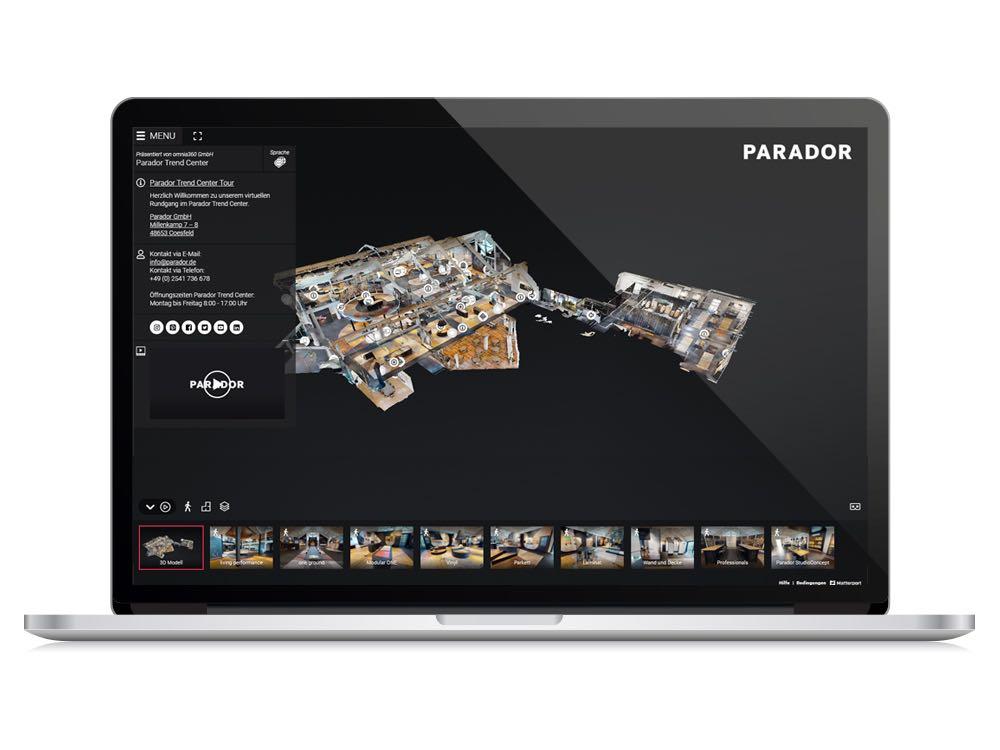 Parador Trendcenter ab sofort online besuchen