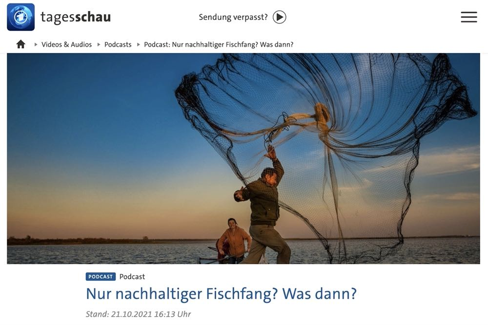 """Tagesschau-Podcast: """"Nur nachhaltiger Fischfang? Was dann?"""""""