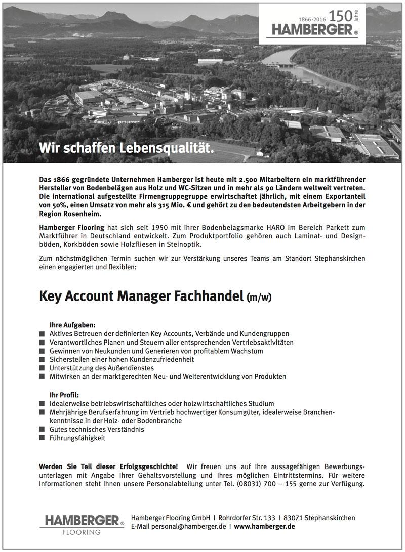 Key Account Manager Fachhandel (m/w) für Parkett und Bodenbeläge