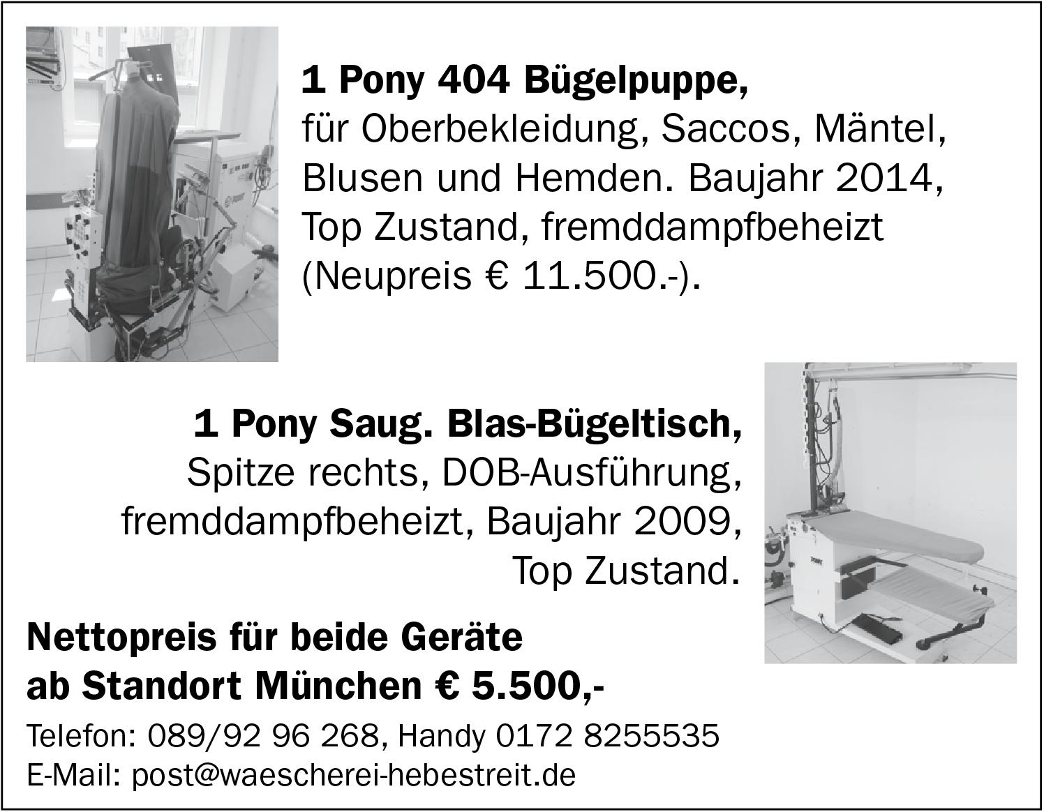 Pony Bügelpuppe  Bügeltisch