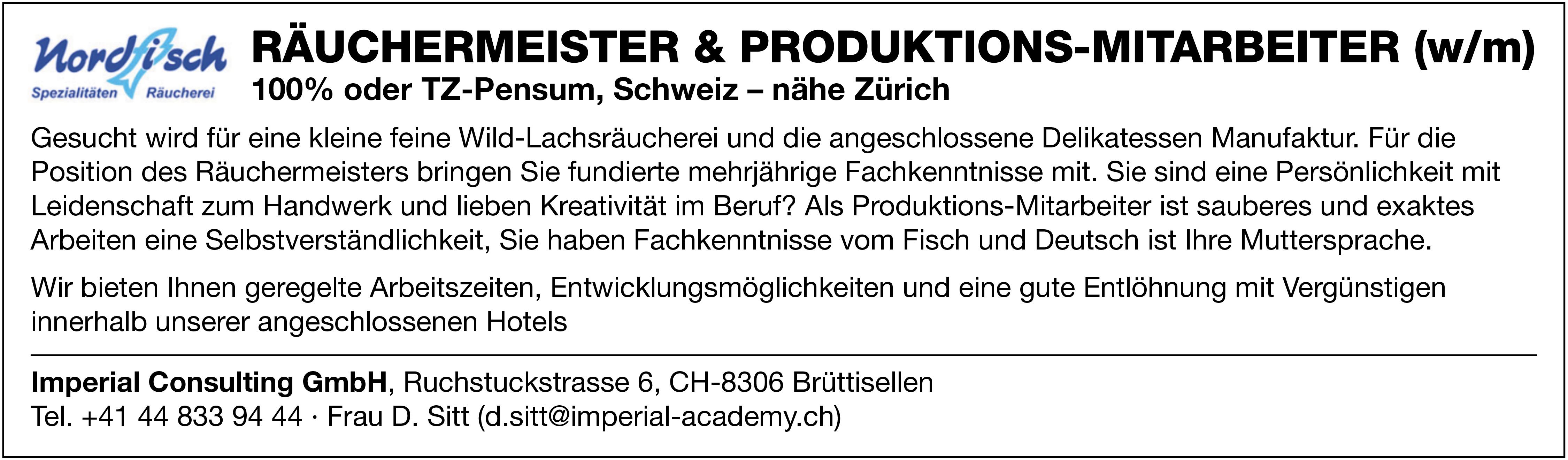 Räuchermeister & Produktionsmitarbeiter (m/w)