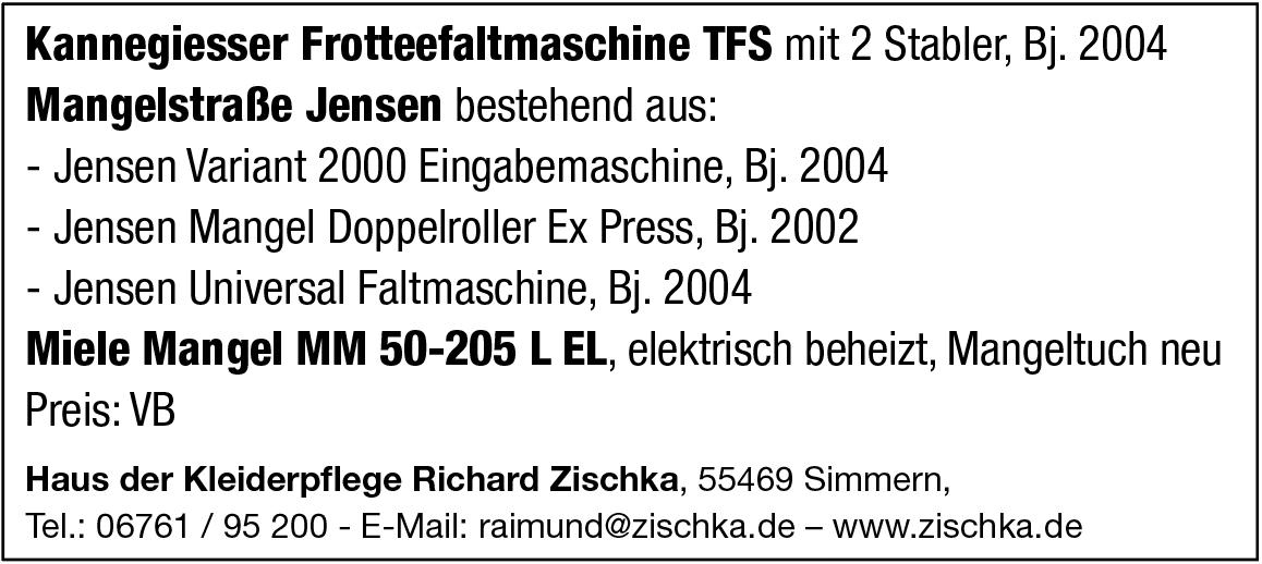 Kannegiesser  Jensen  Miele Maschinen zu verkaufen