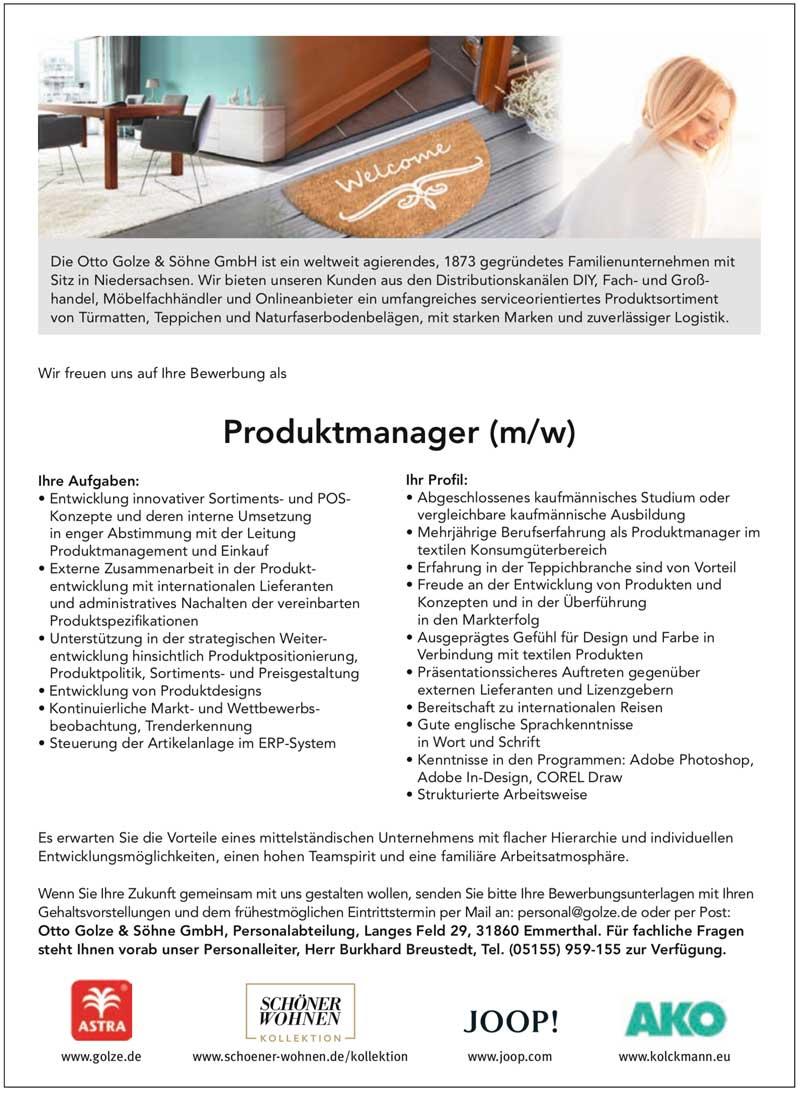 Produktmanager (m/w)