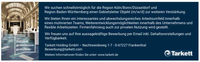Gebietsleiter Objekt (m/w/d) für Bodenbeläge
