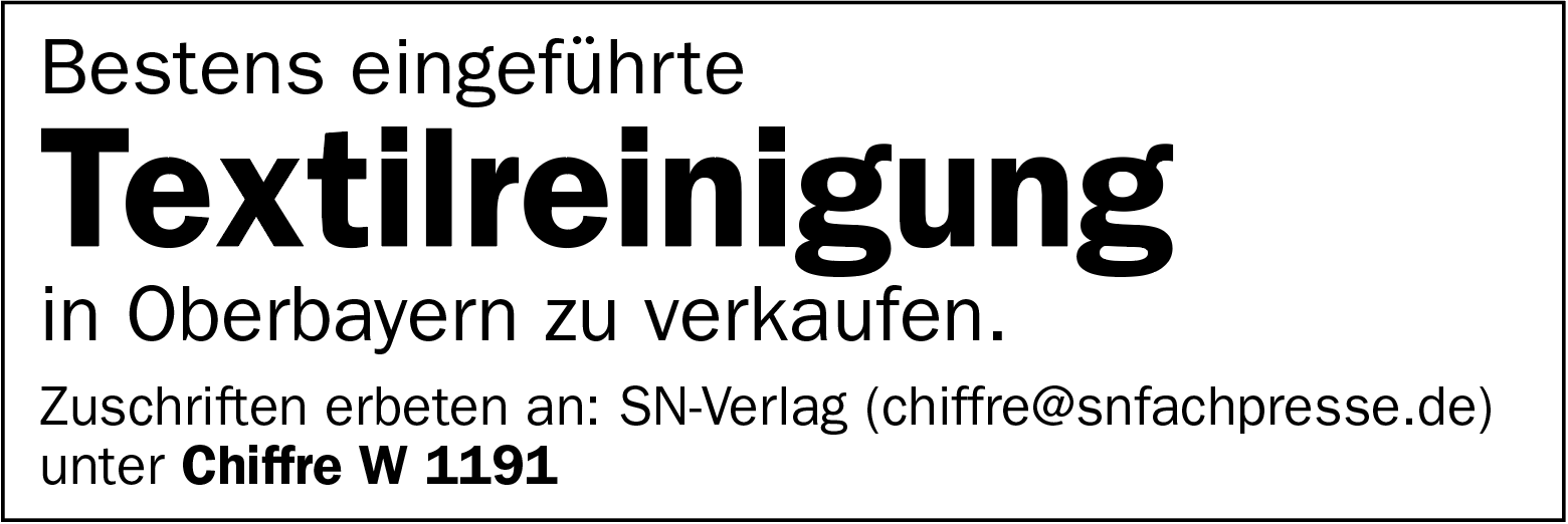Textilreinigung in Oberbayern