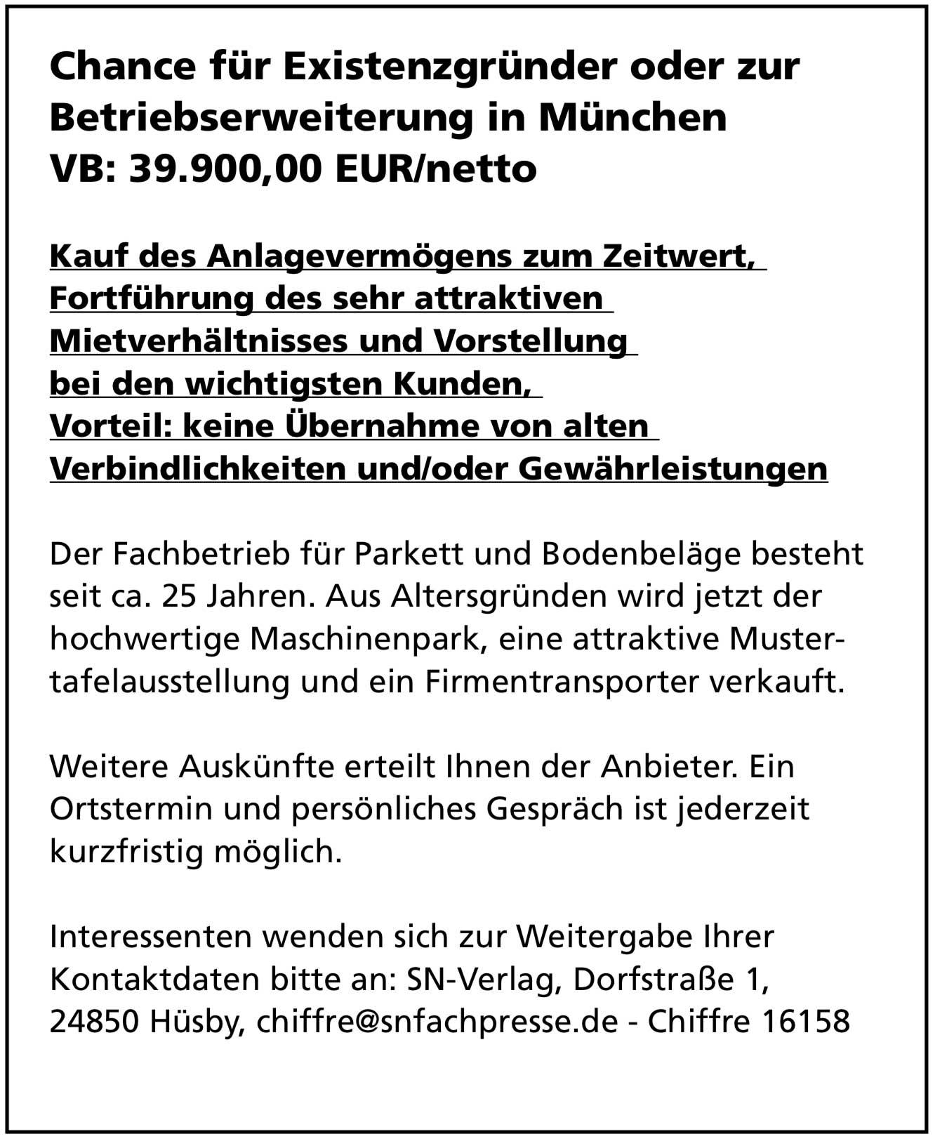 Fachbetrieb für Parkett- und Bodenbeläge in München
