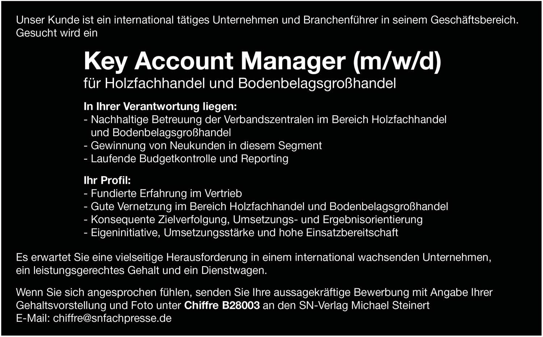 Key Account Manager (m/w/d) für Holzfachhandel und Bodenbelagsgroßhandel