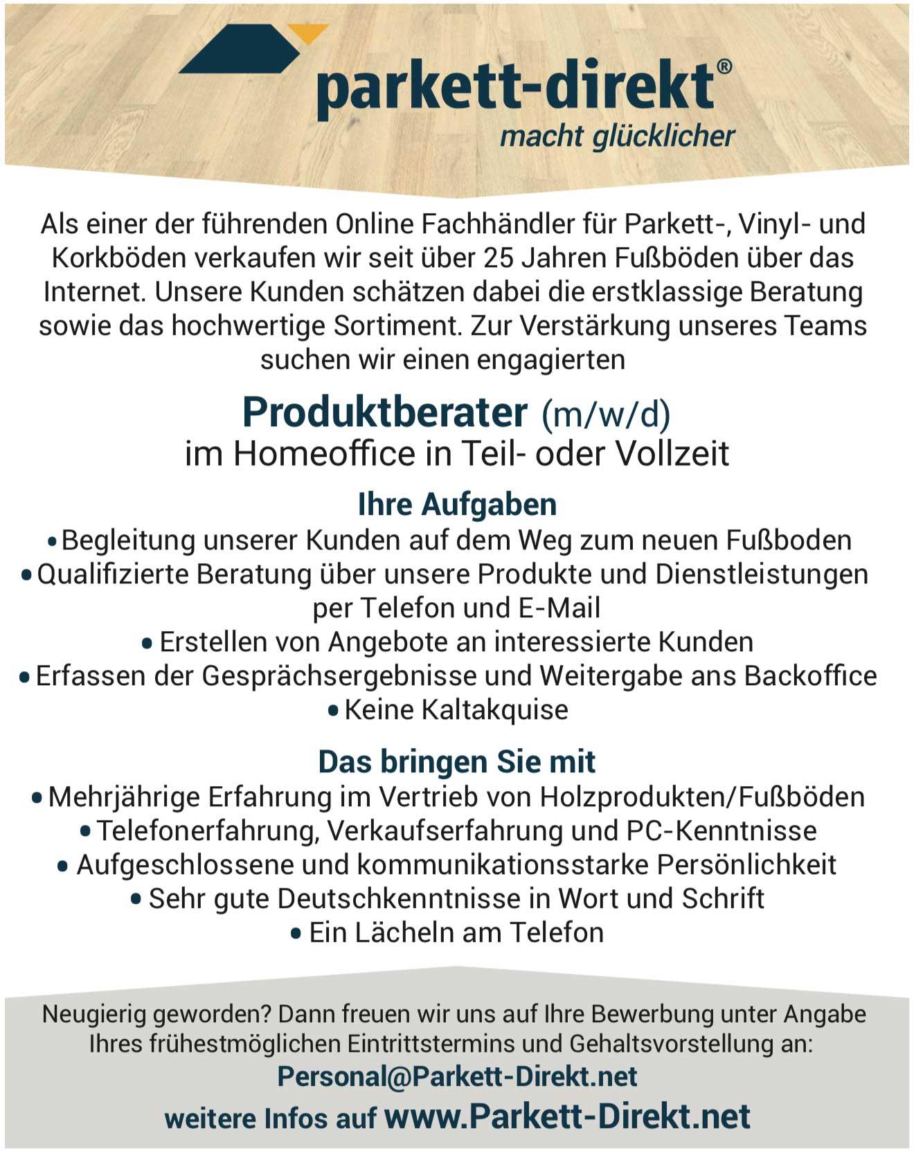 Produktberater (m/w/d) für Bodenbeläge