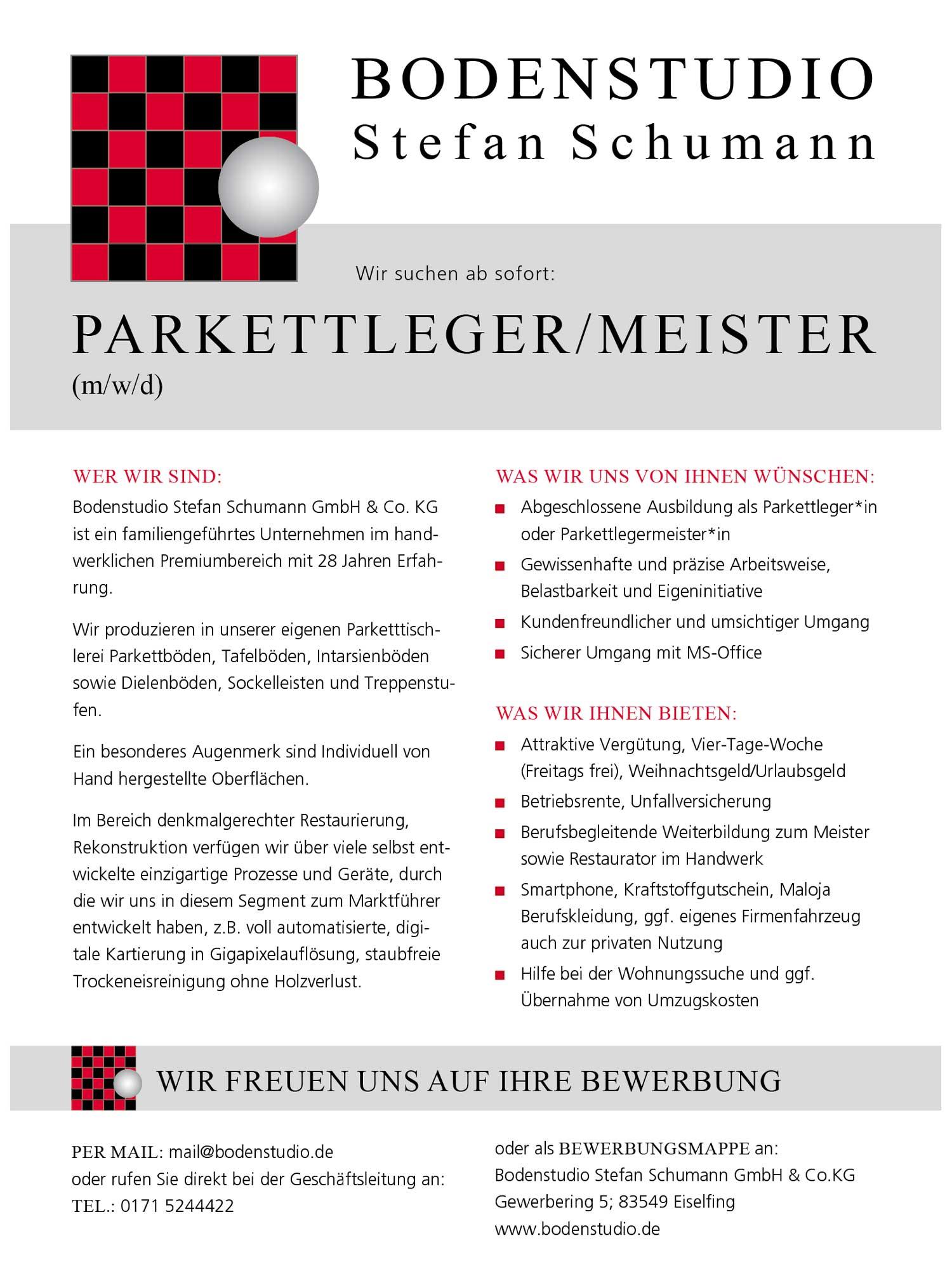 Parkettleger/Meister (m/w/d)