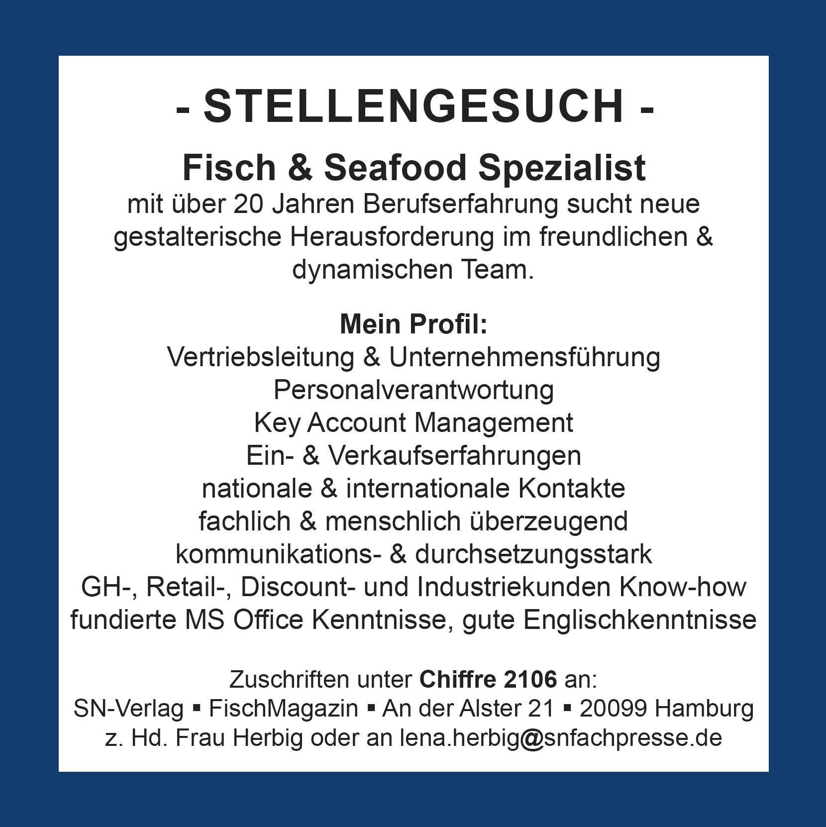 Fisch & Seafood Spezialist