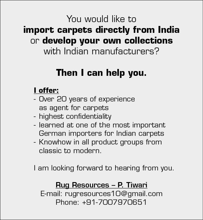 Agent for Carpets & Rugs in India