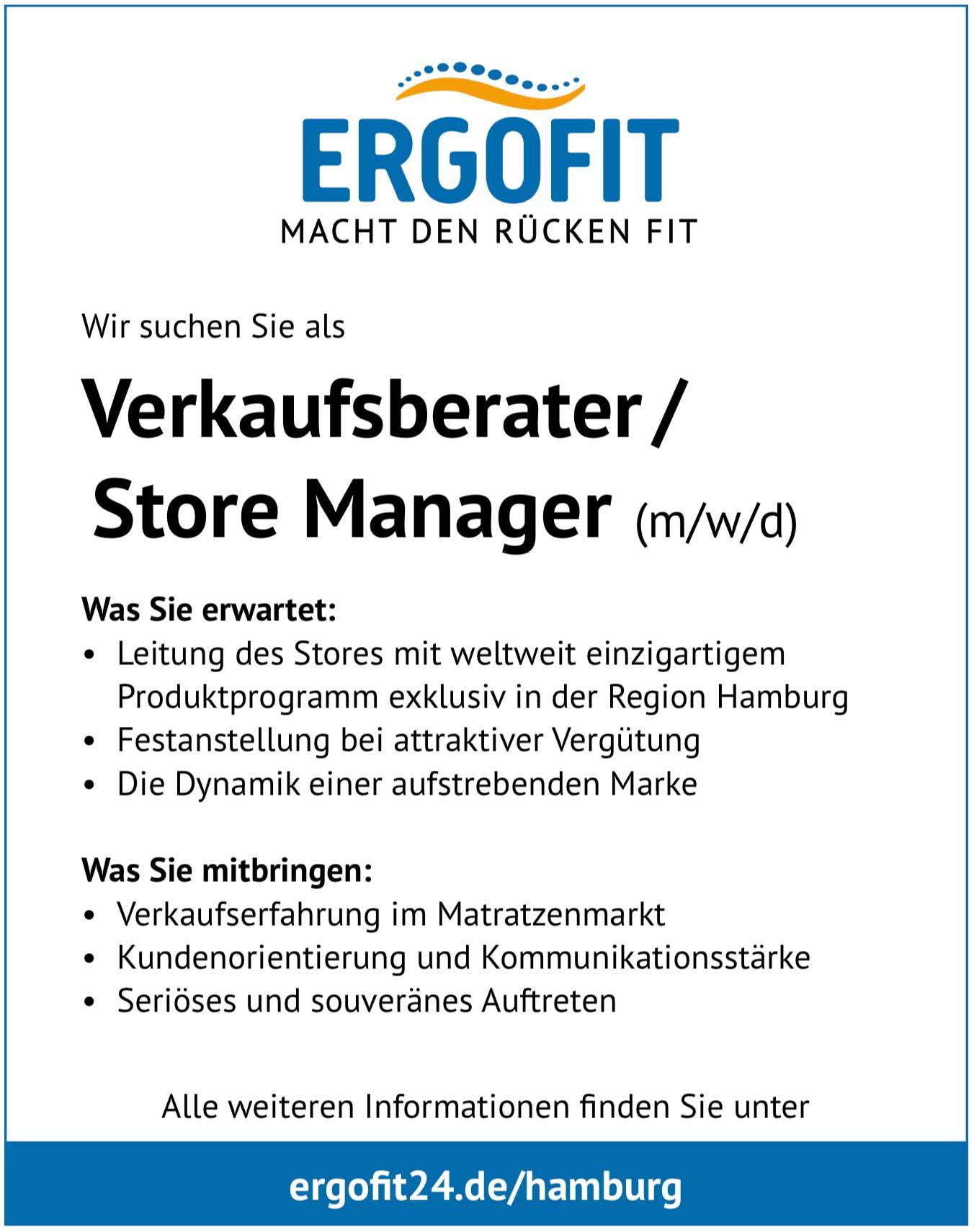 Verkaufsberater/Store Manager (m/w/d) für Schlafsysteme